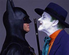 Publicity shots of Batman (Michael Keaton) and The Joker (Jack Nicholson) -1989.