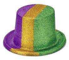 BESTSELLER! Mardi Gras Glitter Top Hat $6.95