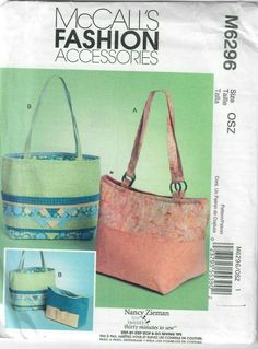 OOP Vogue Sewing Pattern Misses Accessories Hats Bags Purses Handbags You Pick