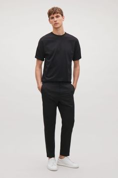 COS image 1 of Oversized cotton jersey t-shirt in Black