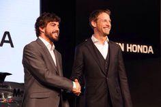 Fernando Alonso And Jenson Button In Tokyo 2015