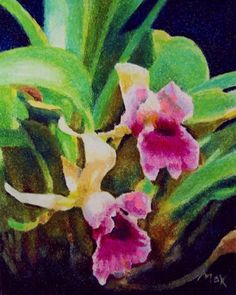 Pastel Drawing Tutorial – Pink Orchids