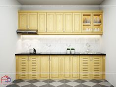 Mẫu Tủ bếp gỗ sồi Nga TBSN184 kiểu dáng chữ I đơn giản nhưng vô cùng tinh tế… Kitchen Cabinets, Home Decor, Decoration Home, Room Decor, Cabinets, Home Interior Design, Dressers, Home Decoration, Kitchen Cupboards