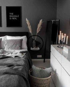 Skiing is hard.i'm so exchausted, so bedtime here. Skiing is hard. Skiing is hard.i'm so exchausted, so bedtime here. Skiing is hard.i'm so exchausted, so bedtime here.Balken Vollholzbett a. White Bedroom Decor, Home Decor Bedroom, Black Master Bedroom, Living Room Decor Cozy, Bedroom Colors, Bedroom Ideas, Scandi Home, Modern Bedroom Design, Industrial Bedroom Design