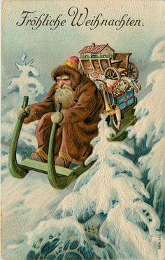 1908 Grumpy German Santa.  Reminds me of the Grinch.