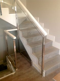 10 mejores im genes de pasamanos de acero escalera - Pasamanos de madera modernos ...