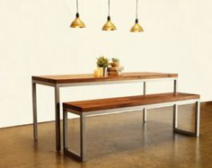 Modern Walnut and Steel Dresser by foundpurpose on Etsy
