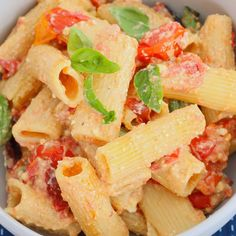 TikTok Pasta   Creamy Baked Feta & Tomatoes Healthy Salad Recipes, Pasta Recipes, Cooking Recipes, Savoury Recipes, Dinner On A Budget, Budget Dinners, Dinner Ideas, Feta Pasta, Pasta Bake