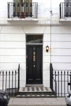 A black front door means you're unimpeachably chic in every way.