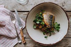 Recipe: Sea Bass With Curried Leeks And Watercress | Coast Magazine