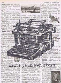 Vintage Typewriter write your own story