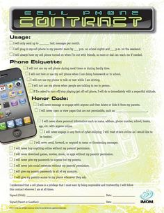 Teen Cell Phone Contract is part of Teen Cell Phone Contract Imom - Keep your kids safe and teach them cell phone etiquette before they do something they will regret with this Cell Phone Contract Parenting Teens, Parenting Hacks, Parenting Articles, Teen Cell Phone Contract, Contract Phones, Phone Etiquette, Cell Phone Hacks, Family Rules, Raising Kids
