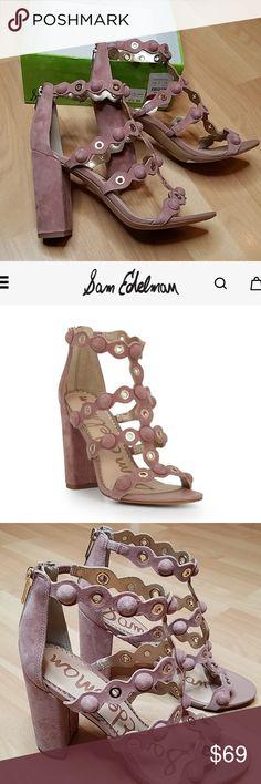 e018e782e7d79 NWT Sam Edelman Yuli dusty rose suede sandals NEW Sam Edelman Yuli sandals  size 8.5.