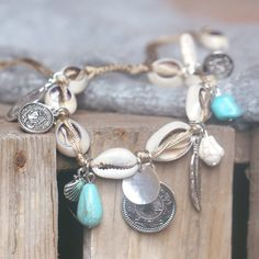 Enkelbandje met schelpjes