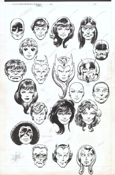 Marvel Heads by John Byrne and Terry Austin!