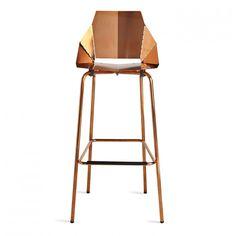 real good copper bar stool modern bar stools blu dot