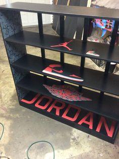 Custom Jordan shoe shelves