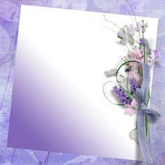 . Lavander, Floral Border, Scrapbook Paper, Clip Art, Printable, Frames, Paper Envelopes, Cards, Pictures
