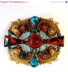 Vintage Art Nouveau Art Glass Maltese Cross by Vintageimagine, $76.00