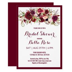 Make Your Own Bridal Shower Invitations