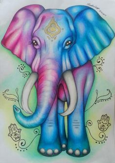 Elefante indiano elephants in 2019 слоны, картинки, декупаж. Image Elephant, Elephant Artwork, Elephant Love, Indian Elephant Art, Watercolor Pictures, Watercolor Animals, Elephant Coloring Page, Colorful Elephant, Psy Art