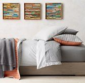 Henley Stripe & Vintage-Washed Percale Bedding Collection