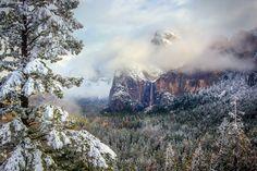 Yosemite Winter Print, California Park Wall Art, Serene Mood Canvas, Yosemite Light Mist and Photo, Stormy Mountain Print, Yosemite Fine Art by SusanTaylorPhoto on Etsy