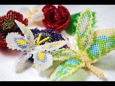 Бабочки из бисера - YouTube
