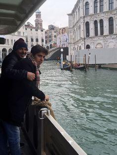 Meu marido e meu filho. Veneza.