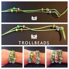 How to make a leather wrap #Trollbeads bracelet!