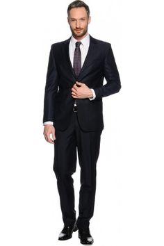 Heren kostuums - Mishumo Lorenzo, Slim Fit marineblauw