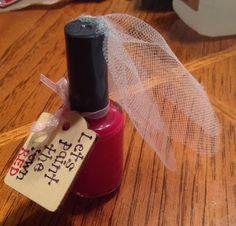 Paint the town red bachelorette party favor #diy #bachelorette #favor