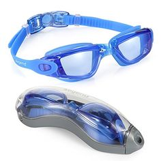 Aegend Clear Swimming Goggles No Leaking Anti Fog UV Protection Triathlon Swim Goggles with Free Protection Case for Adult Men Women Youth Kids Child, Blue - http://fitness-super-market.com/?product=1-top-rated-swim-goggles-aegend-clear-swimming-goggles-no-leaking-anti-fog-uv-protection-triathlon-swim-goggles-with-free-protection-case-for-adult-men-women-youth-kids-child-blue