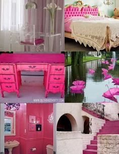 I would love to be daring enough to paint stairs PINK!  <3