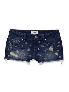 Studded Denim Short - PINK - Victorias Secret