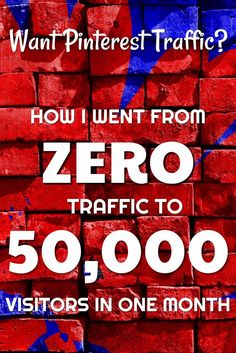 Click to read step by step instructions on How I Went From Zero Pinterest Traffic to 50K Pinterest Visitors In One Month.