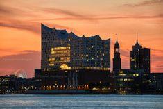 New York Skyline, Germany, City, Travel, Pictures, Hamburg, Sunset, Viajes, Deutsch