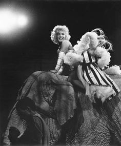 Marilyn photographed at the Madison Square Garden circus benefit, 1955. Photo by Ed Feingersh.