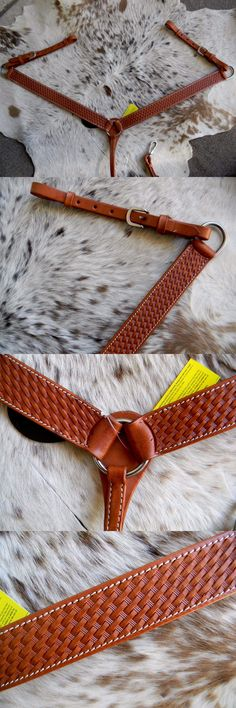 Breast Collars 47298: Basketweave Tooled Leather Western Breast Collar New Horse Tack -> BUY IT NOW ONLY: $35.95 on eBay!