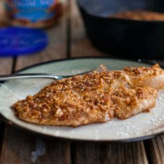 Almond Crusted Tilapia - Five ingredient - Pinch of Yum