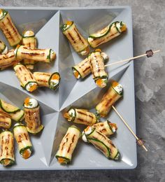 Zucchini and cream cheese rolls - Fingerfood Party Finger Foods, Snacks Für Party, Appetizers For Party, Appetizer Recipes, Simple Appetizers, Seafood Appetizers, Cheese Appetizers, Brunch Recipes, Veggie Recipes