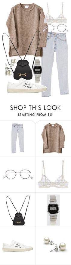 """Untitled #21558"" by florencia95 ❤ liked on Polyvore featuring RE/DONE, Ahlem, La Perla, Gucci, Casio and Yves Saint Laurent"