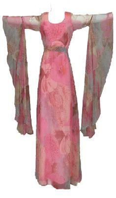 Miss Elliette ultimate angel sleeve dress 1960s