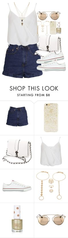 """Outfit for summer with converse"" by ferned ❤ liked on Polyvore featuring Forever 21, Miss Selfridge, Converse, Topshop and Christian Dior"