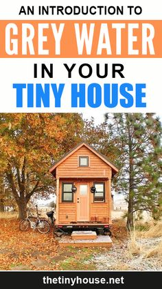 To live in a tiny house, especially if you want to live off-grid, there are a lot of things you have to think about that you might never have considered before. One of these things is what to do with your waste water. Tiny House Builders, Building A Tiny House, Tiny House Plans, Tiny House On Wheels, House Floor Plans, Cheap Tiny House, Off Grid Tiny House, Tiny House Family, Tiny House Living