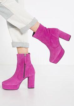 Topshop - HERCULES  - High Heel Stiefelette - bright pink