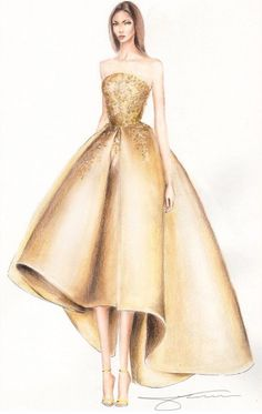 Fashion illustration by olivia elery desene fashion design drawings, fashio Fashion Illustration Sketches, Illustration Mode, Fashion Sketchbook, Fashion Sketches, Fashion Design Illustrations, Moda Fashion, Diy Fashion, Fashion Dresses, Fashion Ideas