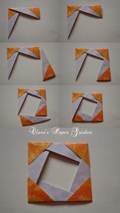 Clara's Paper Garden: Tutorial - mini frame