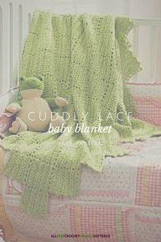 Popular free crochet afghan pattern! Cuddly and lightweight - perfect for little ones.