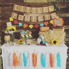 "22 Likes, 4 Comments - Maggie Ward (@blue_oak_creations) on Instagram: ""New little pumpkin fall babyshower theme at Blue Oak Creations! It was so much fun setting up this…"""